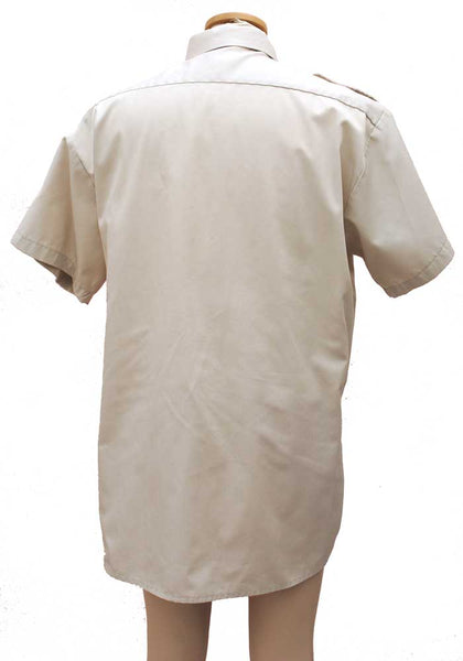 Men's Beige Short Sleeve Safari Shirt 16.5 Collar • Uniform