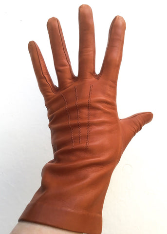 Vintage milore tan brown leather gloves