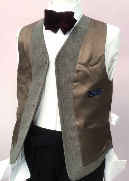 1970s Prince of Wales Check Waistcoat by Principles 38""