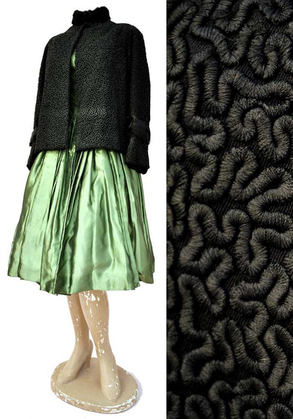 faux poodle coat, 1900s jacket