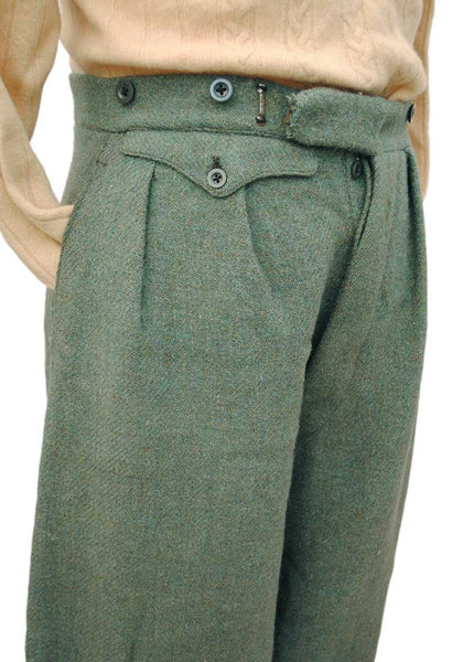mens authentic high waist 1920s trousers