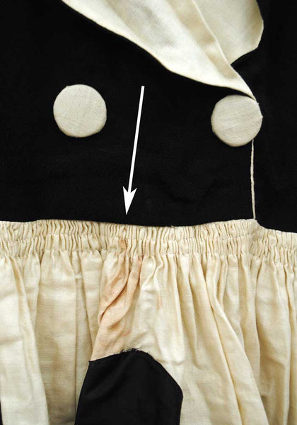 Rare 1920s/30s Vintage Girl's Halloween Costume Dress • Ace of Clubs • Alice in Wonderland