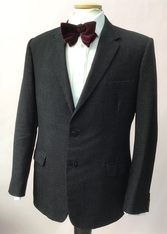 1950s Vintage Graphite Wool Tweed Blazer by Jay Tailors 38/40""