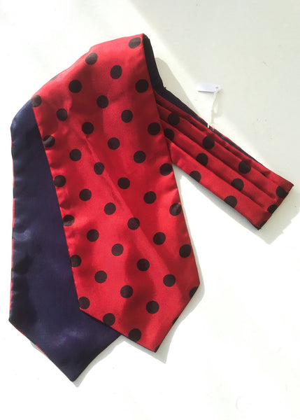 Red spotted vintage cravat