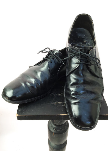 Men's Black Leather Lace Up Cheaney Smart Shoes • Size UK 8