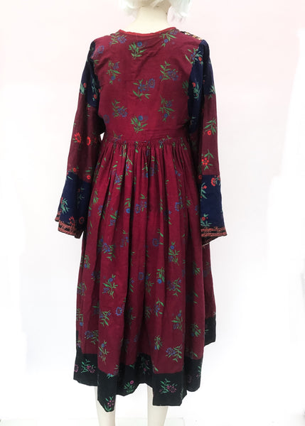 1970s Fabulous Vintage Traditional Afghan Kuchi Dress • Boho • XS