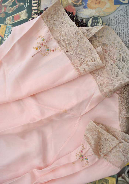 vintage pink silk tap pants, french knickers