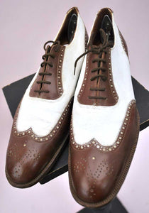 original vintage 20s wing tip spectators shoes
