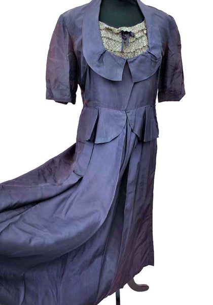 purple vintage 1930s dress