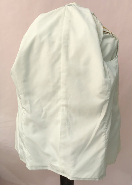 "1960s Vintage White Shawl Collar Tuxedo Dinner Jacket • 42/44"" Chest"