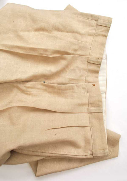"Boy's Vintage 60s Slim Fit Linen Trousers • 30"" Waist • Mod"