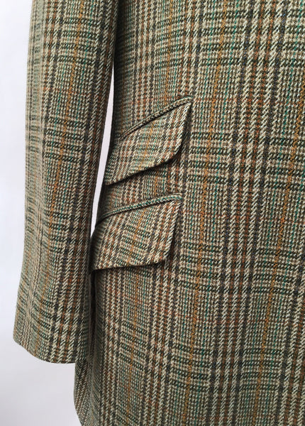Stunning Tweed Check Hacking Jacket • Bladen Supasax • 46R