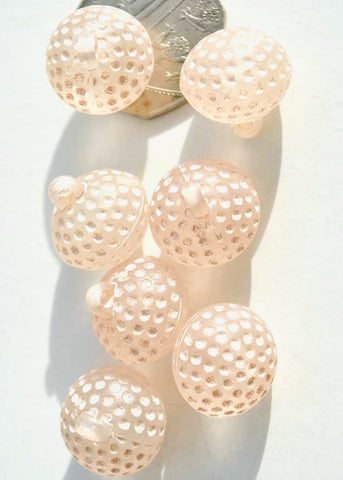 Vintage pink golf ball glass buttons