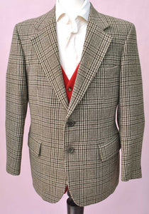Vintage St Michael Brown Check Tweed Blazer 40""