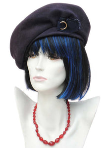 1940s Vintage Blue Purple Beret Hat