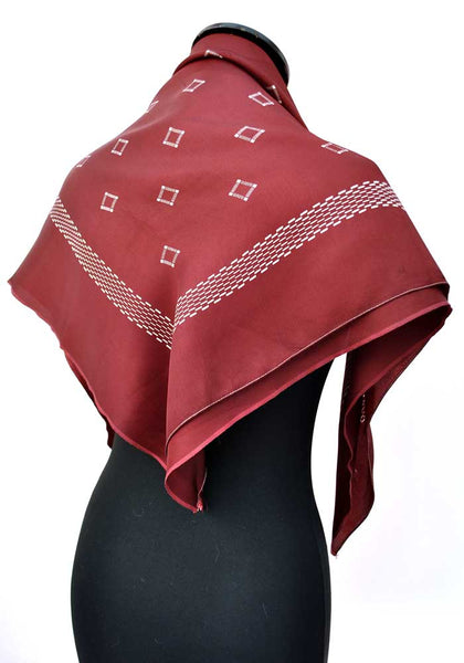 deep red vintage shawl scarf