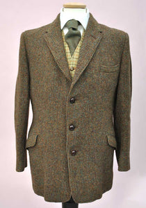 Vintage Harris Tweed Sports Jacket • Two-on-one Box Weave  • 40/42""
