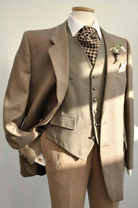 Vintage St Michael Brown Tweed Blazer 44 Short