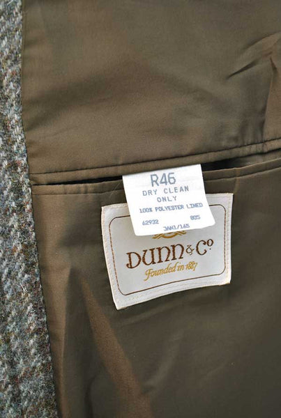 Vintage Grey Harris Tweed Sports Jacket • Dunn & Co • 46R