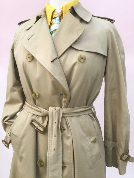 1960s Women's Vintage Genuine Burberry Trenchcoat • Mackintosh Raincoat
