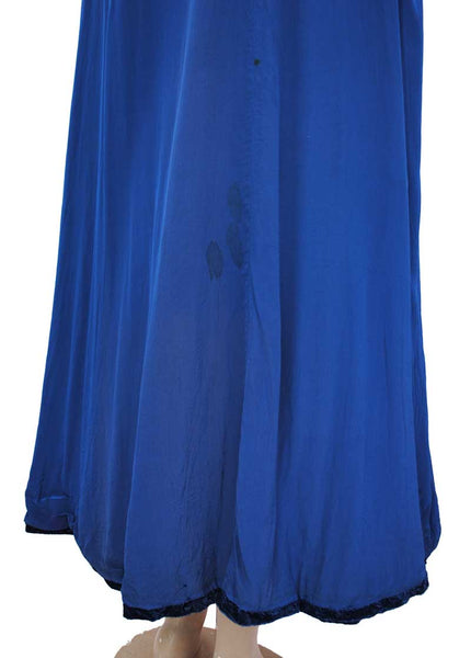 Vintage Blue Velvet Evening Opera Cape