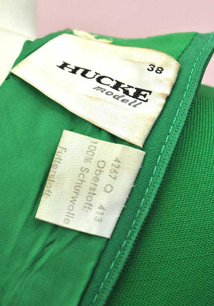 1960s Vintage Kelly Green Pure Wool Mod Scooter Dress • Hucke