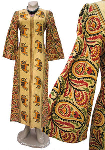 rare 60s london boutique label, new generation, ethnic maxi caftan