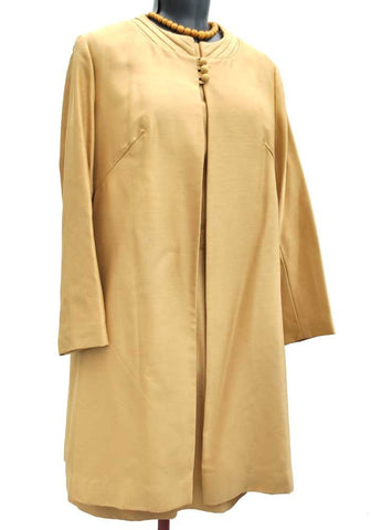 60s berketex gold mother of the bride dress suit
