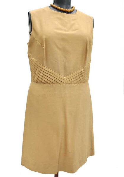 vintage plus size mother of the bride gold dress