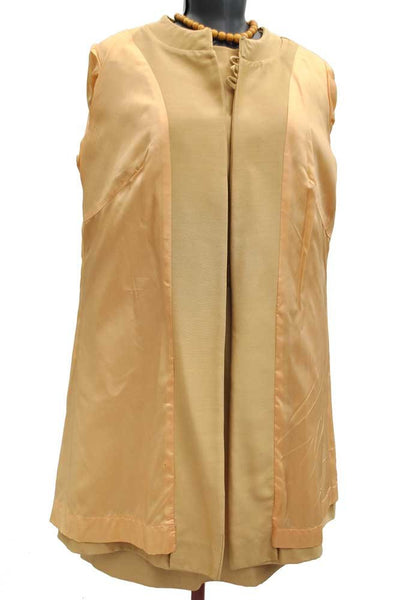 1960s Vintage Gold Mohair Shift Dress Suit • Mother of the Bride • Berketex