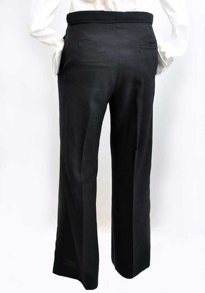 1960s Vintage Midnight Blue Tuxedo Suit • Flared Trousers • 2 Piece Dinner Suit