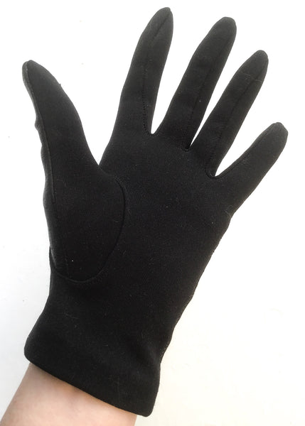 1970s Vintage Black Leather Driving Gloves • St Michael • Size 7