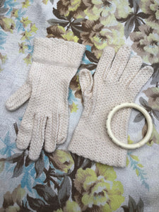 Edwardian revival vintage crochet knit lacey gloves, steampunk picnic to period costume wedding