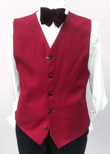 Vintage burgundy wool burton waistcoat to fit 38-40 chest