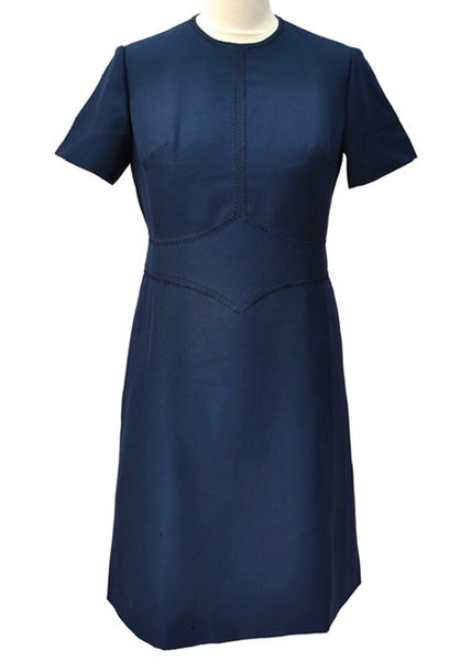 1960s Vintage Blue Pure Wool Mod Scooter Dress by Hucke