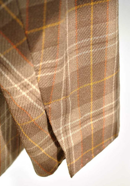 1960s Men's Vintage Brown Plaid Blazer Sports Jacket