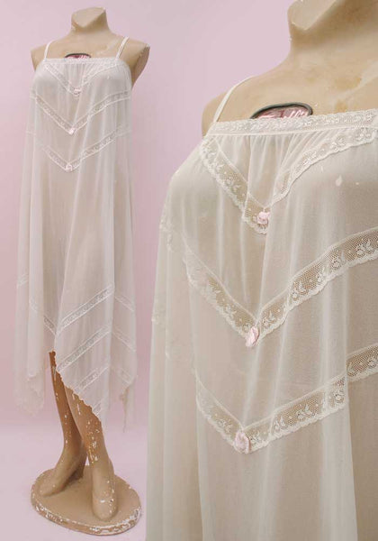 70s sheer nylon nightgown