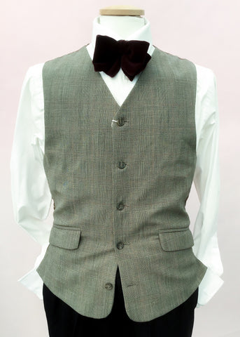 Vintage prince of wales check waistcoat for 38 inch chest