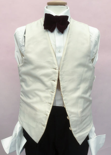 Moss Bros Gold Damask Waistcoat with Fleur de Lis