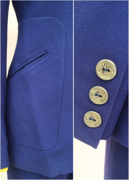 Christian lacroix blue trouser suit