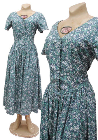 laura ashley vintage tea dress with ditsy daisy print