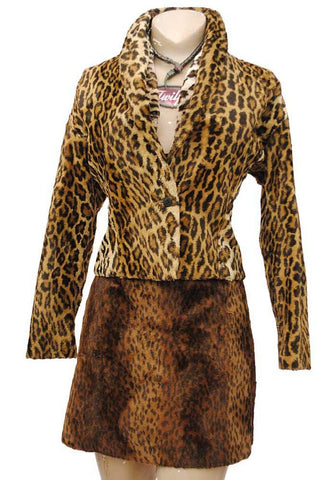 rare 1980s ninivah khomo animal print jacket