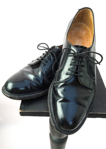 Men's Black Leather Oxford Lace Up Loake Shoes • Size UK 8