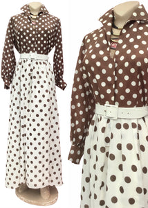 Such a julia roberts pretty woman dress, brown polka dot maxi dress