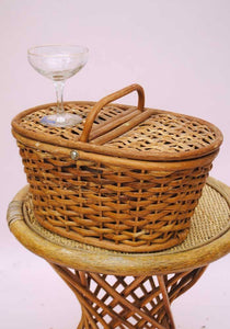 Vintage Wicker Basket • Picnic Basket