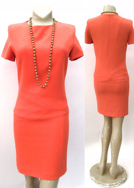Orange georges rech short sleeve wiggle dress