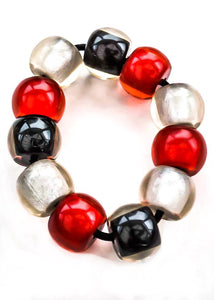 Chunky Retro Lucite Baubles Elasticated Bangle
