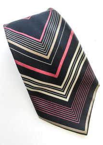 Vintage silk neck tie by the designer pierre balmain,
