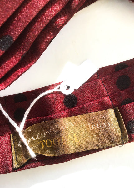 1950s Vintage Burgundy Spotty Grosvenor Tootal Cravat