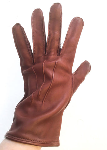 Mens vintage soft leather driving gloves size 7.5